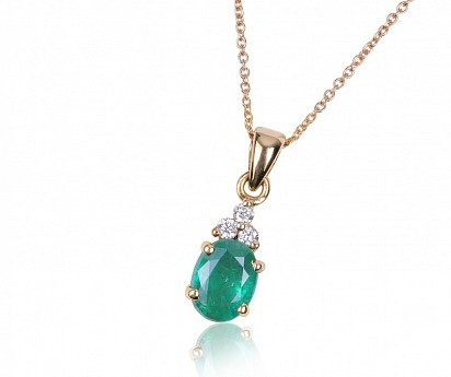 Emerald & Diamond - 18K Yellow Gold, DUBAI